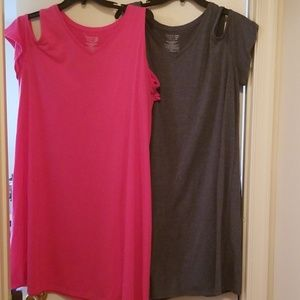 2 soft Cold Shoulder Dresses